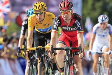 Tour de France 2012 - 15a tappa Samatan - Pau 158.5 km - 16/07/2012 - Cadel Evans (BMC) - Bradley Wiggins (Sky) - BettiniPhoto©2012