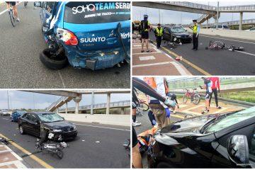 כמעט קטל בכביש 3: טים סרויה ניצלה בזכות רכב הליווי! (צילום: Soho Team Seroya ושוקי סרויה, רון קורן)