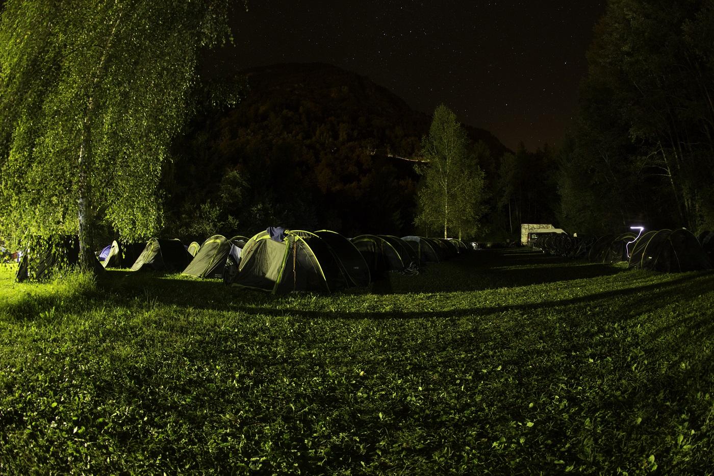 מחנה האוהלים של התחרות