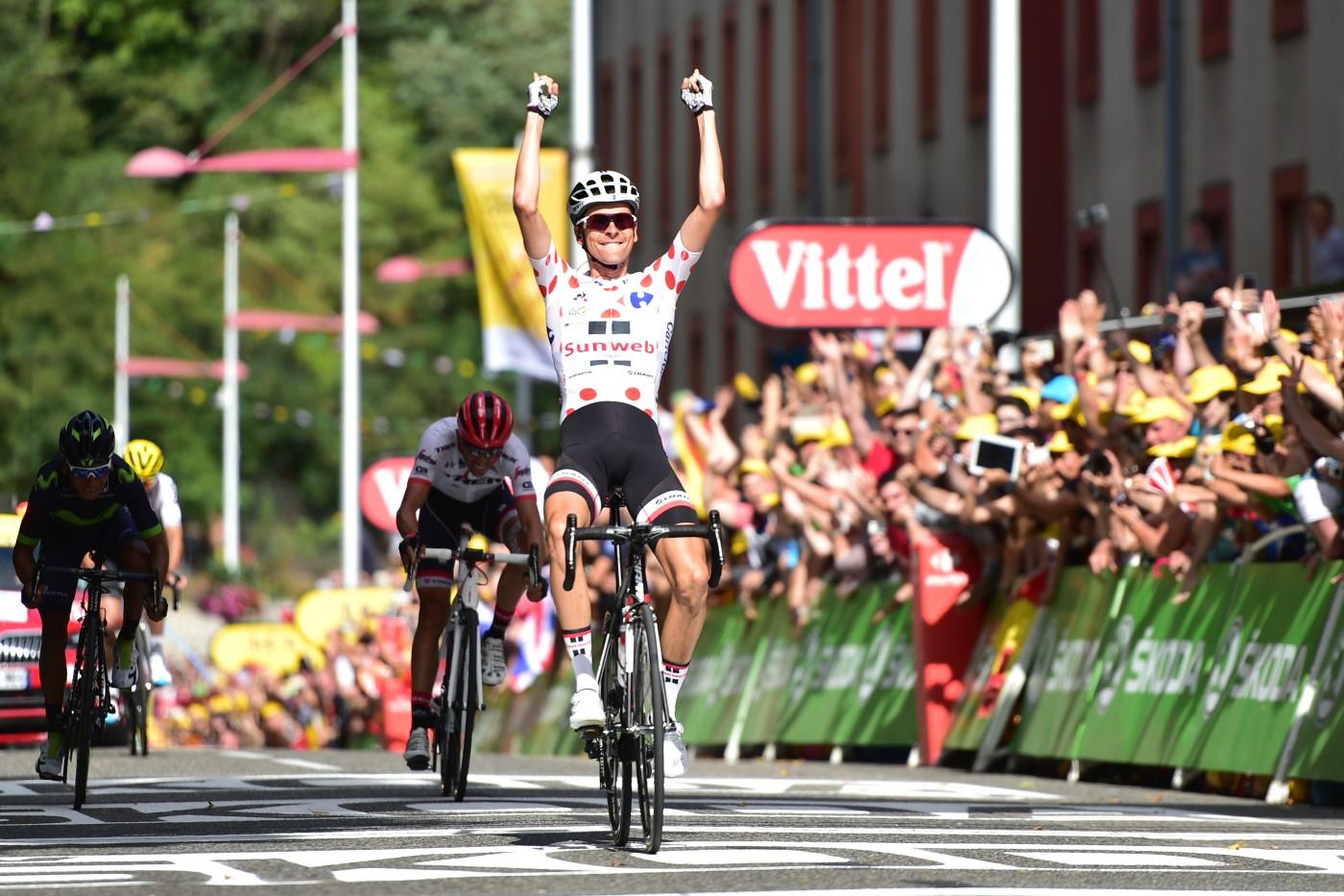 Tour de France 2017 - 14/07/2017 - Etape 13 - Saint-Girons / Foix (101 km) - France - Warren BARGUIL (TEAM SUNWEB) - Vainqueur a Foix